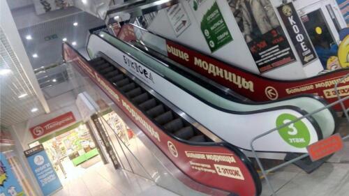 брендирование эскалатора
